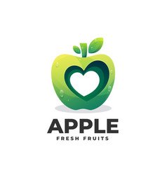 Logo apple gradient colorful style vector