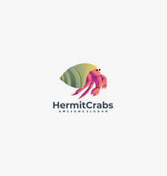 logo hermit crabs gradient colorful style vector image