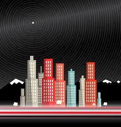 Long Time Exposure Abstract City with Mountains vector image