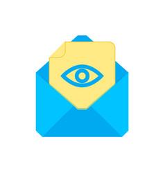 mail symbol envelope icon hide envelope vector image