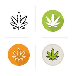 marijuana leaf icon vector image