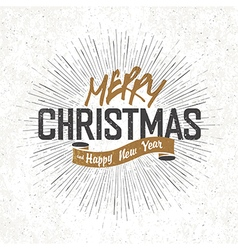 merry christmas monochrome vector image