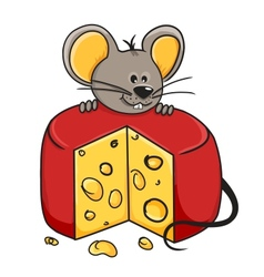 Mouse cheese vector