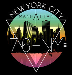 Newyork city graphic design vector