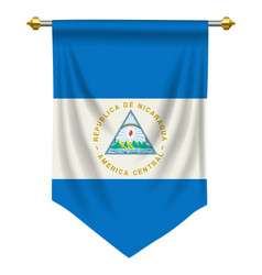 Nicaragua pennant vector
