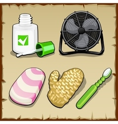 Objects set of the office personal hygiene vector