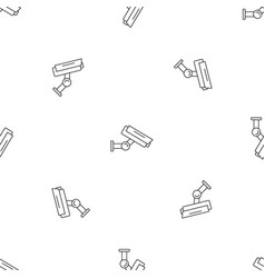 outdoor camera security pattern seamless vector image