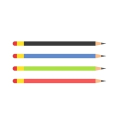 pencils Colored flat vector image