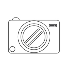 Photo camera picture image thin line vector