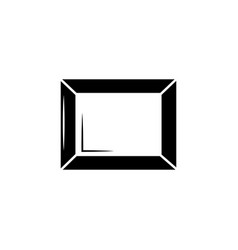 picture frame icon vector image