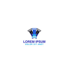 pillar law firm logo designs inspiration isolated vector image