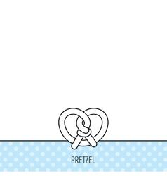 Pretzel icon Bakery food sign vector image