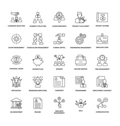 project management line icon pack vector image