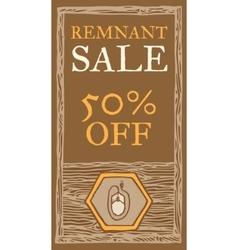 Remnant sale flyer vector image