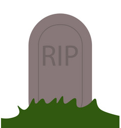 rip grave icon vector image