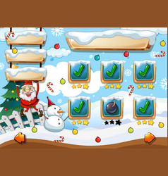 santa christmas game template vector image