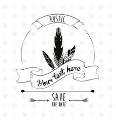 Save the date rustic poster decorative element vector