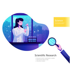 science background poster vector image