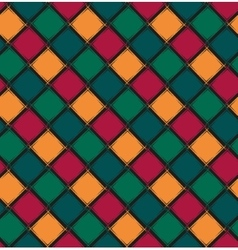 Seamless pattern with color rhombus vector image
