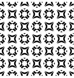 Seamless texture black white geometric figures vector