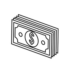 Silhouette bill dolar money vector
