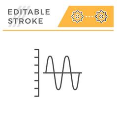 sound graph editable stroke line icon vector image