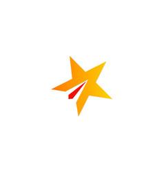star shape company logo vector image