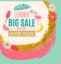 Summer sale abstract banner background vector