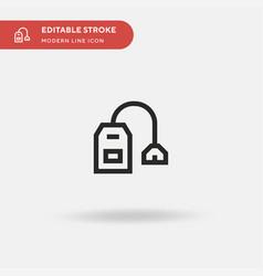 tea bag simple icon symbol vector image