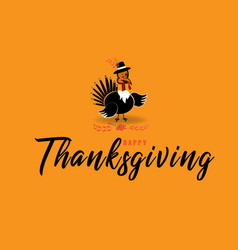 Thanksgiving turkey cute cartoon vector