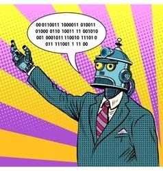 The robot leader politician vector