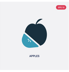 two color apples icon from thanksgiving concept vector image