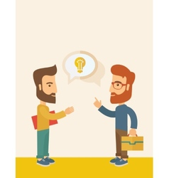 Two men sharing ideas vector