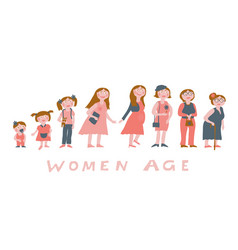 woman age image vector image
