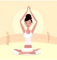 Yoga Asian girl vector