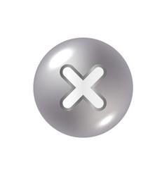 cross sign element vector image