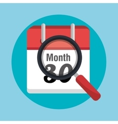 End of month calendar vector