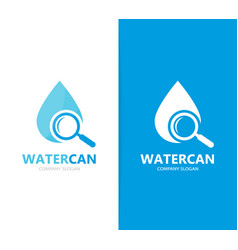 Oil and loupe logo combination drop and vector