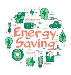 green energy saving concept vector image