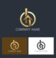 home gold realty logo vector image