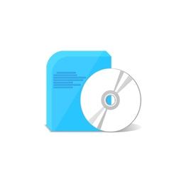 object DVD program vector image