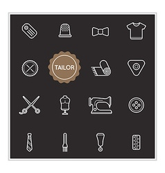 Set of Tailor Elements can be used as Logo or Icon vector image vector image