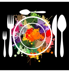 The art of cooking vector image vector image