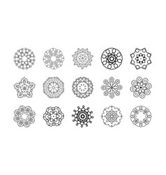 mandala patterns set round ornament vector image