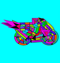 Motor cycle colorful vector