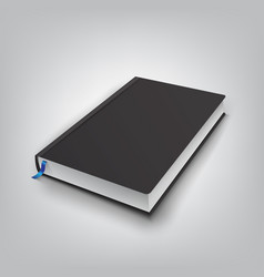 realistic book with black cover mock up of books vector image