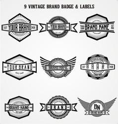 Vintage brand badge labels vector