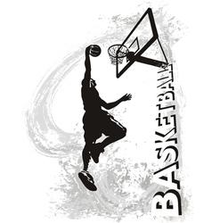 Basketball slam jam vector