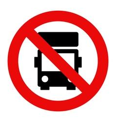 No lorry parking vector image vector image