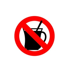 Stop coffee It is forbidden to drink morning cup vector image vector image